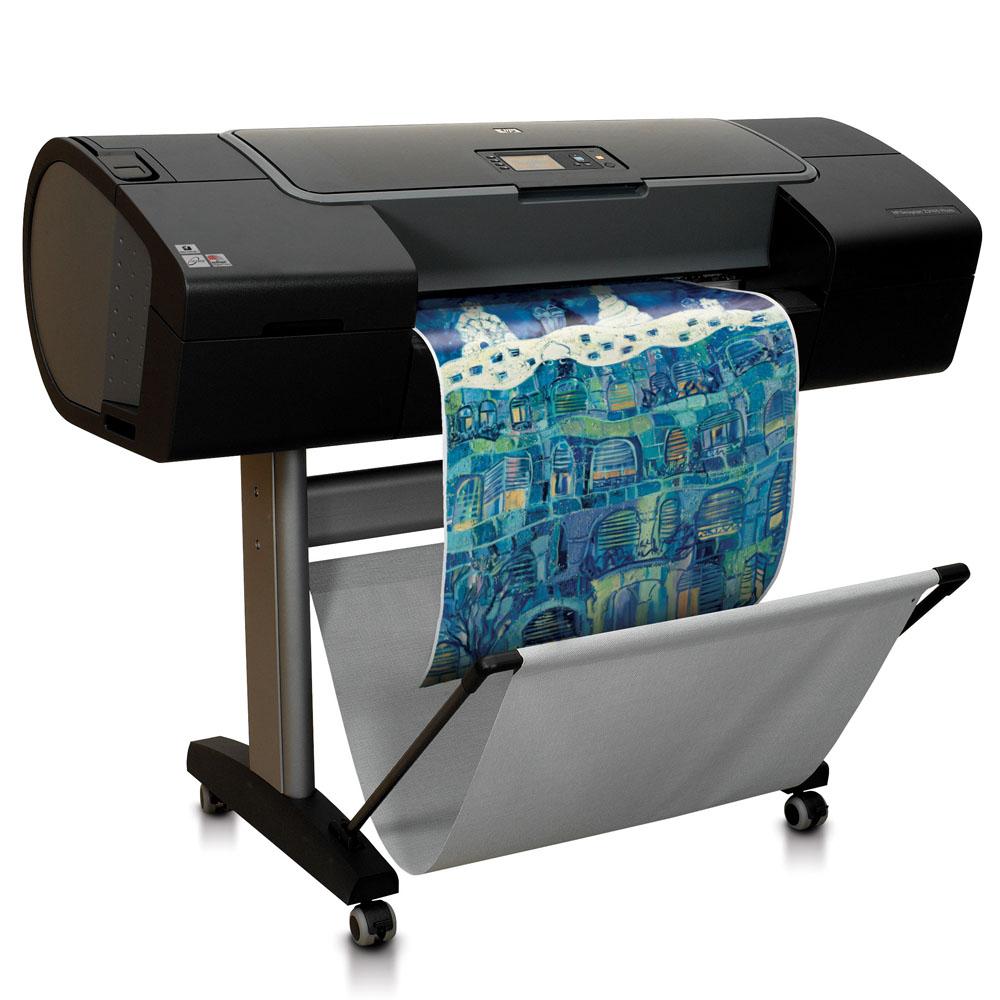 Широкоформатный принтер (плоттер) HP Designjet Z2100 (24-inch, 8 colors, 2400x1200dpi, 128Mb, 80Gb HDD, 7, 9 mpp (A1, norm), USB/LAN/EIO, stand, single sheet and roll feed, autocutter)