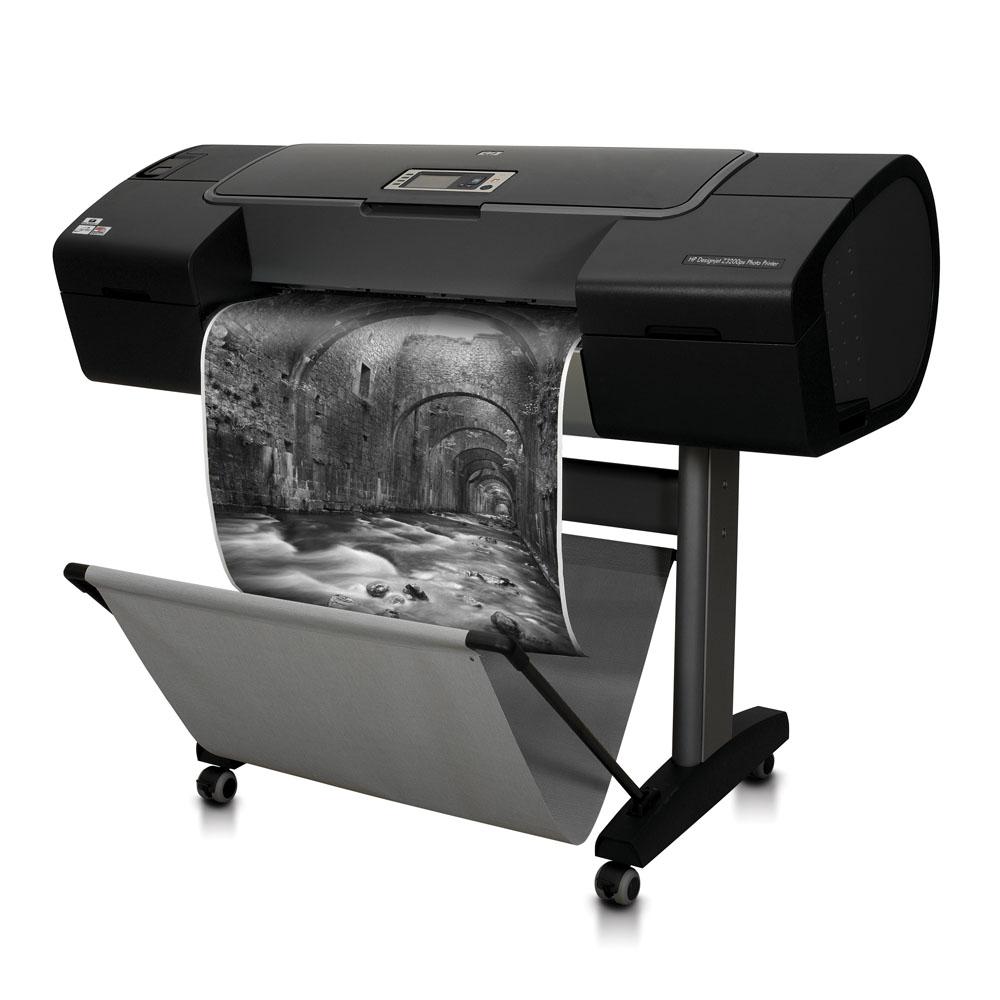 Широкоформатный принтер (плоттер) HP Designjet Z3200ps (24-inch, 12 colors, 2400x1200dpi, 256Mb, 80 Gb HDD, 7, 2mpp(A1, normal), USB/LAN/EIO, stand, sheetfeed, rollfeed, autocutter, PS)