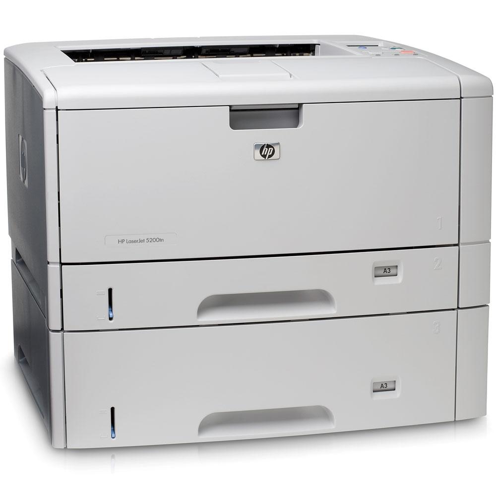 Черно-белый лазерный принтер HP LaserJet 5200DTN (A3+, 1200dpi, 35ppm, 64 Mb, 3trays 500+250+100, USB/Parallel/LAN/EIO, Duplex)