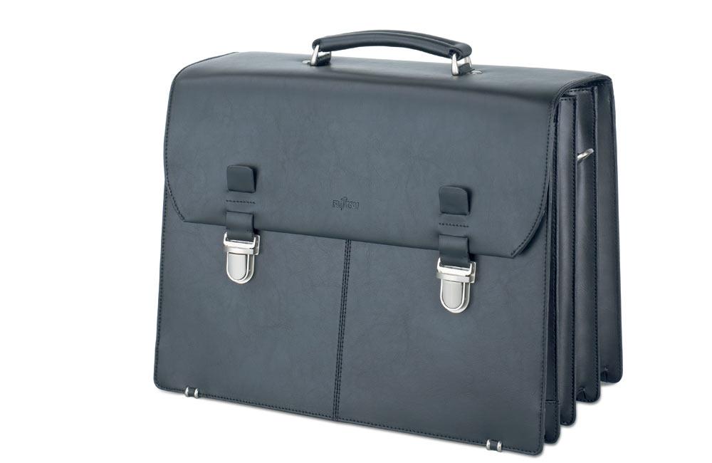 Сумка для ноутбука Fujitsu Supreme case maxi (black leather)