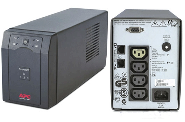 Источник бесперебойного питания APC Smart-UPS 420VA/260W,   230V, Line-Interactive, Data line surge protection, Hot Swap User Replaceable Batteries, PowerChute