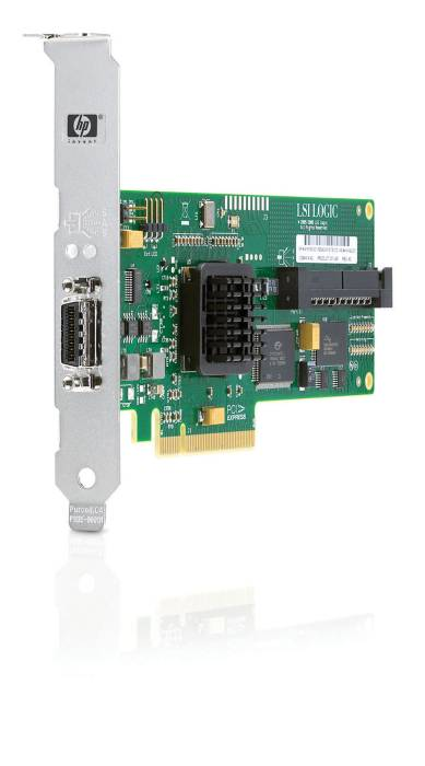 Контроллер HP SC44Ge SAS/SATA Host Bus Adapter (8 link: 1 int x4 wide connector/1 ext x4 wide connector; RAID 0, 1) PCI-E