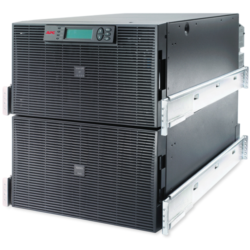 Источник бесперебойного питания APC Smart-UPS RT RM 12U 15000VA 12kW, On-Line, 1:1 or 3:1, Rack 12U, Extended-run, Pre-Installed Web/SNMP Card, with PC Business, Black