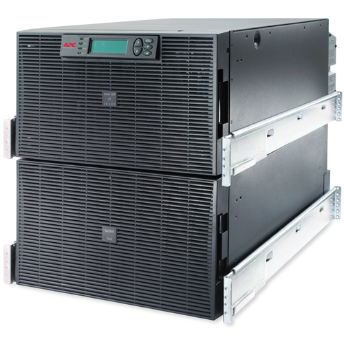 Источник бесперебойного питания APC Smart-UPS RT RM 12U 20000VA 230V, On-Line, 1:1 or 3:1, Rack 12U, Extended-run, Pre-Installed Web/SNMP Card, with PC Business, Black