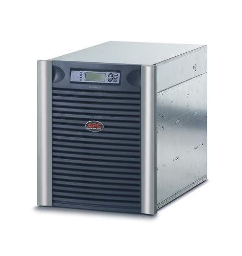 Источник бесперебойного питания APC Symmetra LX RM 13U 8000VA   (5600Watt, RS232, 2xSYBT5, 1xSS AP9619, 8xC13, Black)