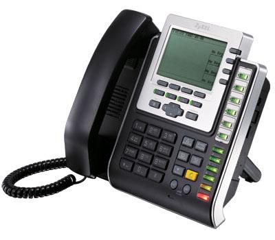 ZyXEL IP-телефон на 4 линии SIP с графическим дисплеем, 2 портами Ehernet и PoE