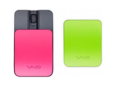 Bluetooth мышь со съемными крышками (зеленый и розовый)