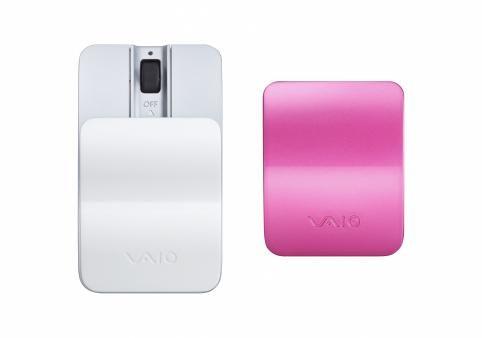 Bluetooth мышь со съемными крышками (белый и розовый)