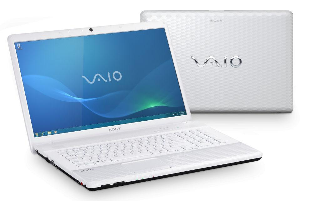 Ноутбук Sony VAIO EJ1E1R/W Pentium B490 (2.0), 17.3-inch HD+ (1600*900), 4GB (1), 500GB, DVDRW, WiFi, BT, camera, HDMI&VGA, W7HB 64, 3.1kg, White
