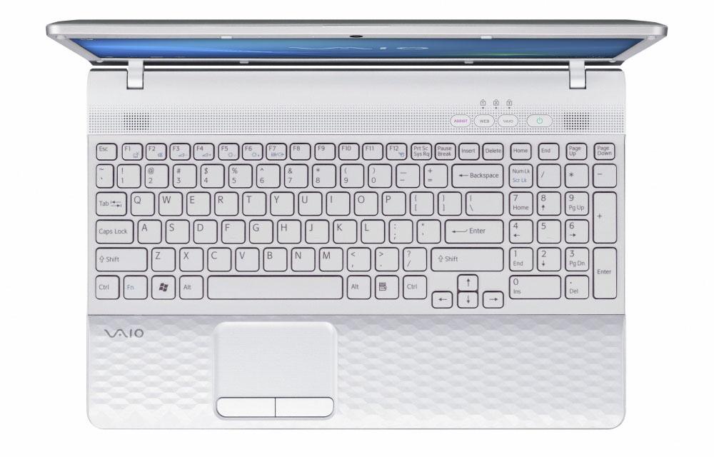 Ноутбук Sony VAIO EJ1E1R/W   Pentium B490 (2.0), 17.3  HD+ (1600*900), 4GB (1), 500GB, DVDRW, WiFi, BT, camera, HDMI&VGA, W7HB 64, 3.1kg, White