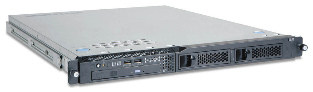 Сервер IBM System x3250 M2   Rack 1U; Intel Xeon 3.0 GHz E3110 Dual Core L2 Cache 6MB FSB 1333MHz; RAM 2x1024 MB PC2-6400 DDR2 SDRAM ECC; 2 Bays 3.5  Hot-swap; HDD 1x250GB 3.5  SS SATA HDD; Integrated SATA/SAS Controller; Power 351W; Multiburner drive; no FDD; Dual GB Ethernet
