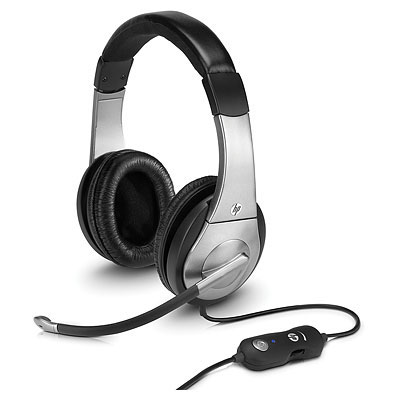 HP Premium Digital Headset, mini jack 3.5 mm, USB, Volume Control