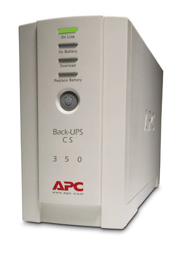 Источник бесперебойного питания APC Back-UPS CS 350VA/210W, 230V, USB, Data line surge protection, user repl. batt., PowerChute
