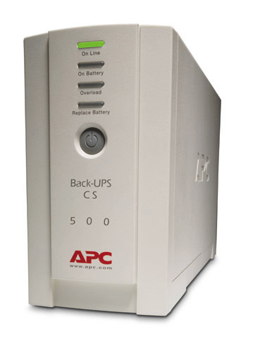 Источник бесперебойного питания APC Back-UPS CS 500VA/300W, 230V, USB, Data line surge protection, user repl. batt., PowerChute