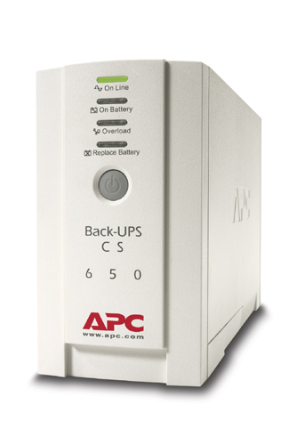 Источник бесперебойного питания APC Back-UPS CS 650VA/400W 230V, DSL, fax, or modem protection Port DB-9 RS-232, USB