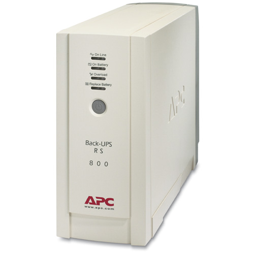Источник бесперебойного питания APC Back-UPS RS 800VA/540W, 230V, AVR, USB Interface, Cold-start, Data line surge protection, Hot Swap Batteries, PowerChute