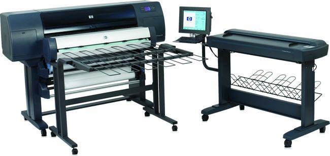 Широкоформатное струйное МФУ HP Designjet 4500mfp (Printer 42-inch, 2400x1200dpi, PS EIO/FireWire/LAN; Scanner 42-inch, 2400x2400dpi, 24bit; Copier ; PC;DVD-RW; LAN)