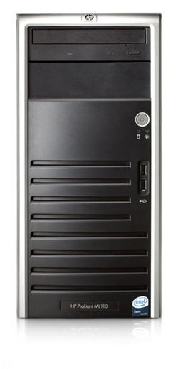 Сервер HP ProLiant ML110 G4 Server P925(3.0GHz, DC, 2x2Mb) NHP SATA (Tower P2.8GHzDualCore2x2Mb, 1x512MB, 160GB nhp SATA, 4-port SATA RAID(0,1,1+0), CD,noFDD, GigEth)