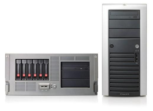 Сервер HP ProLiant ML150 G3 Server Tower Xeon 5050 DualCore 3.0GHz/2x2Mb, 1x512Mb, SATA Drive Cage (max 6 HDD), SATA RAID 6ch (0/1), CD, noFDD, Gigabit Ethernet