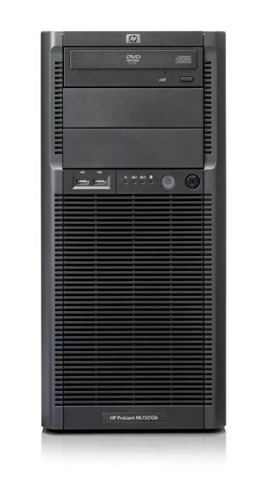 Сервер HP ProLiant ML150 G6 Server   E5504 Hot plug SAS, SATA (Tower XeonQC 2.0Ghz(4Mb), 1x2GbUD, P410(ZM, RAID1+0, 1, 0), 1x300Gb15kLFFHDD(4, 8up), DVDRW, GigEth)