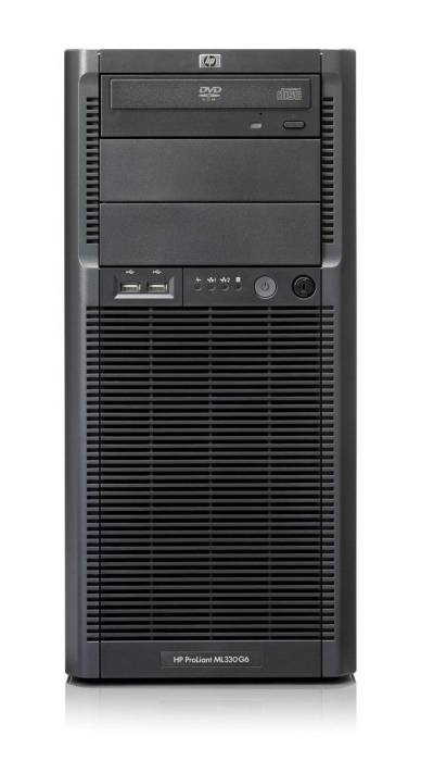 Сервер HP ProLiant ML330 G6 Server E5606 Tower, XeonQC 2.13GHz(8Mb), 1x2GbR2D, P410wBBWC(512Mb, RAID(5+0, 5, 1+0, 1, 0), HDD 2x160GB NHP SATA LFF(4, 8up), DVDRW, iLO2std, 2xGigEth, 1хPS460NHP