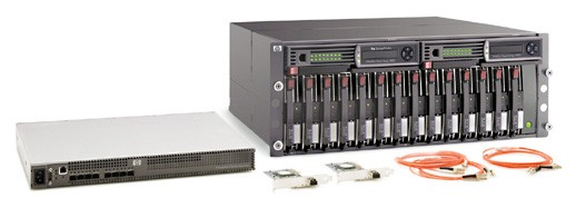 HP StorageWorks MSA1000 SAN Starter Kit HA Bundle (Incl. 1x contr; 1x 2/8 Switch; 4SFP`s; 2x FCA2214; cbls)
