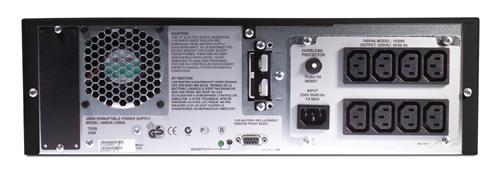 Источник бесперебойного питания APC Smart-UPS XL RM 3U 1400VA   (1050Watt, RS232, 1xRBC25, 1xSS, 8xC13, Black)