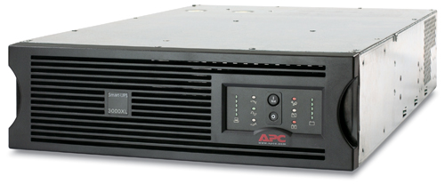 Источник бесперебойного питания APC Smart-UPS XL RM 3U 3000VA/2700W, 230V, RackMount, Extended Runtime, Line-interactive, user repl. batt., SmartSlot, PowerChute, BLACK