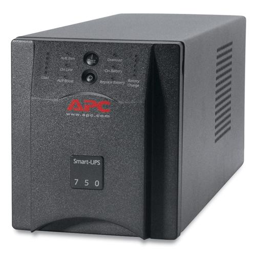 Источник бесперебойного питания APC Smart-UPS 750VA (500Watt, USB, RS232, 1xRBC48, 1xSS, 6xC13, Black)