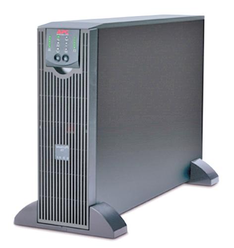 Источник бесперебойного питания APC Smart-UPS RT 3U 3000VA (2100Watt, RS232, 1xRBC44, 1xSS, 8xC13, Black)