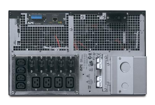 Источник бесперебойного питания APC Smart-UPS RT RM 6U 8000VA/6400W,   On-Line, Extended-run, 1:1 or 3:1, Rack 6U (Tower convertible), Pre-Installed AP9619, with PC Business, Black