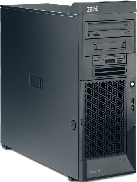 Сервер IBM xSeries 206 (x206) P4-3.2/1Mb/800MHz,   256Mb PC3200/400MHz, 80Gb 7200 rpm SATA (max 4x160Gb with S/R-7t), NHP, 5/5 PCI, CD, FDD, Gigabit NIC