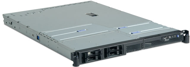 Сервер IBM xSeries 336 (x336) XeonDP-3.2/2Mb/800MHz,   2x512Mb PC2-3200/400MHz, 2x36.4Gb 10000 rpm Ultra320-SCSI (max 2x300Gb), HP, 2/2 PCI, DVD, FDD, Dual Gigabit NIC