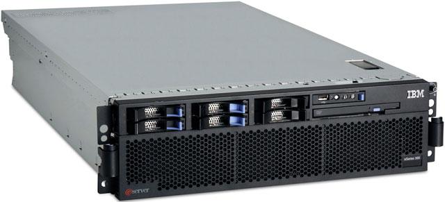 Сервер IBM xSeries 366 (x366) 2xXeonMP-3.66/1Mb/667MHz, 2x1Gb, SAS (max 6x73Gb), HP, 6/6 PCI, DVD, FDD, 2xNIC, 2x1300Watt